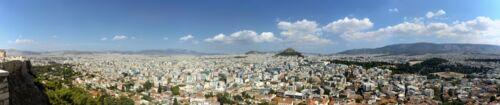 Blick auf den Norden von Αθήνα (Athen)